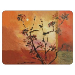 Sunset design corkbacked tablemats. Each place mat has stunning orange red brown and yellow colours