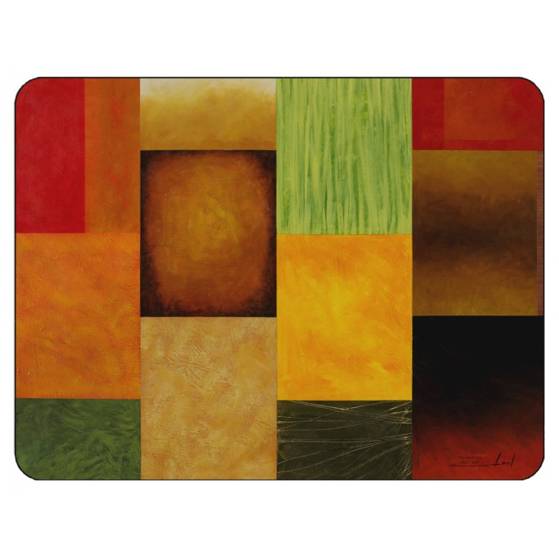 Majestic design by Pablo Esteban of vibrantly coloured corkbacked placemats