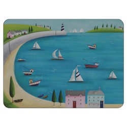 Harbour View corkbacked tablemats, nautical British sailing boats design