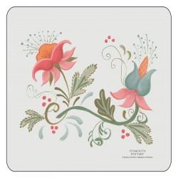 Spring design corkbacked floral coasters