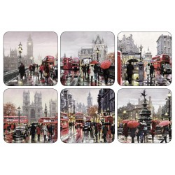 Square coasters Streets of London design