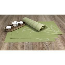 Fleximat Lemon design woven vinyl set of 4 placemats