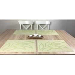 Reverse side Fleximat Lemon design woven vinyl tablemats