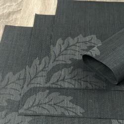 Carbon woven vinyl Fleximats reverse side in focus