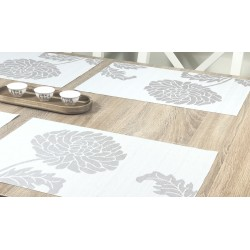 Reverse side of Taupe woven vinyl Fleximats placemats