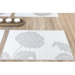 Reverse side of Taupe woven vinyl Fleximats placemats single image