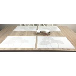 Reverse version of Vanilla Fleximats set of 4 flexible placemats