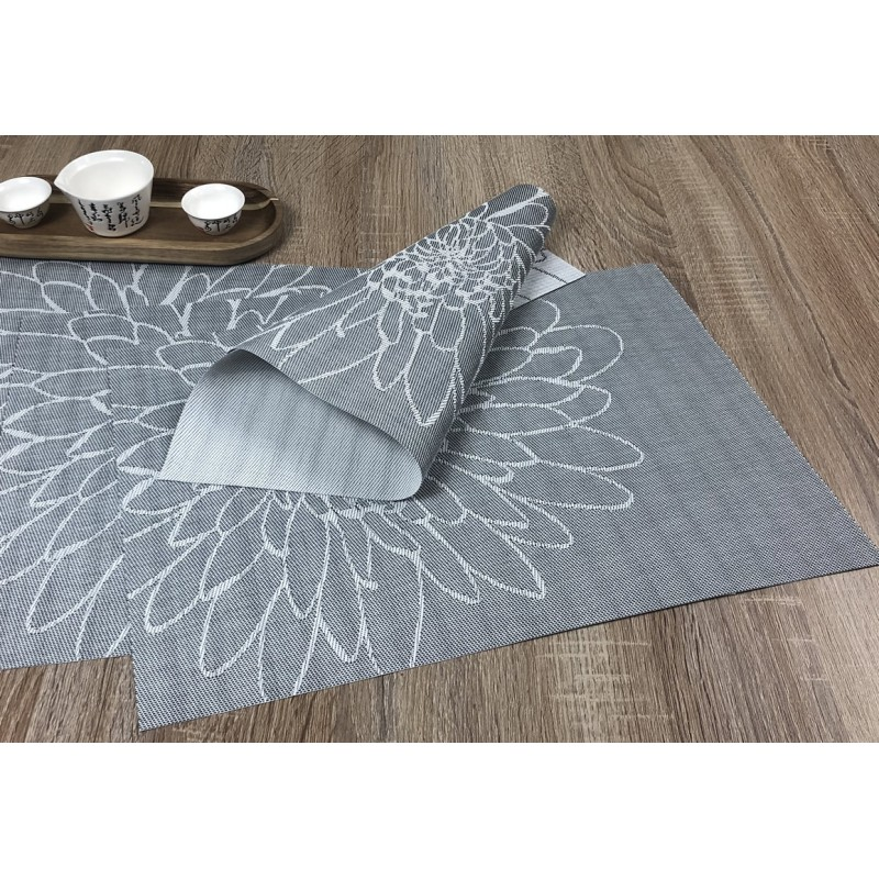 Woven vinyl tablemats Steel Fleximats design