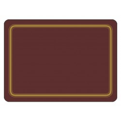 Claret colour melamine placemats corkbacked UK made