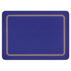 Blue melamine placemats, UK made, corkbacked