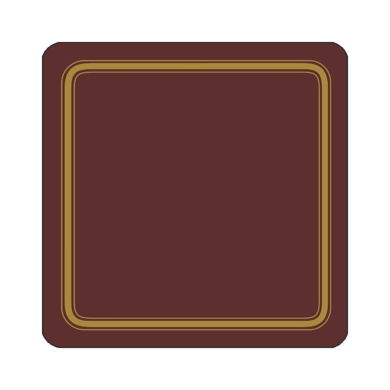 Claret colour melamine coasters corkbacked UK made