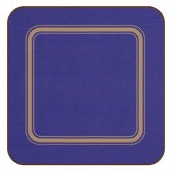 Blue corkbacked melamine drinks coasters, Regal Pro range by Plymouth Pottery, UK made