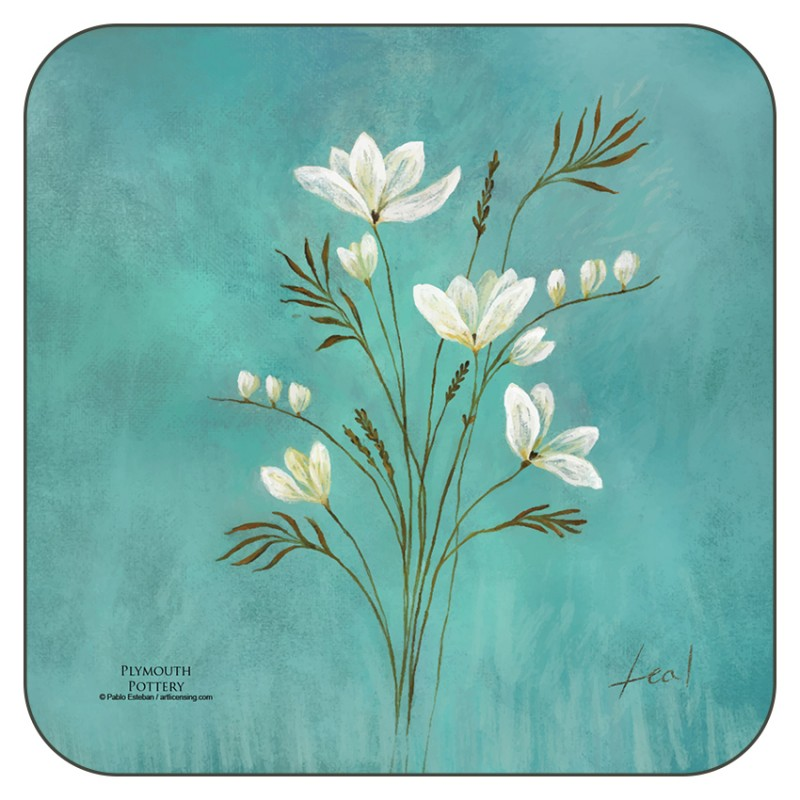 Infinity design corkbacked floral coasters