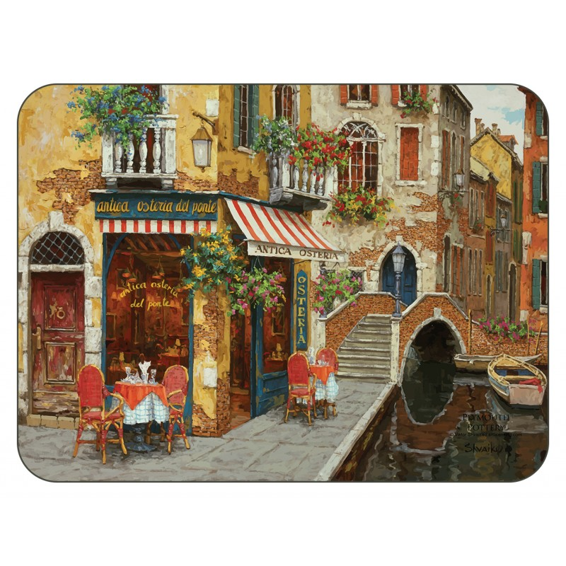 Cafe Scene mediterranean tablemats by Plymouth Pottery