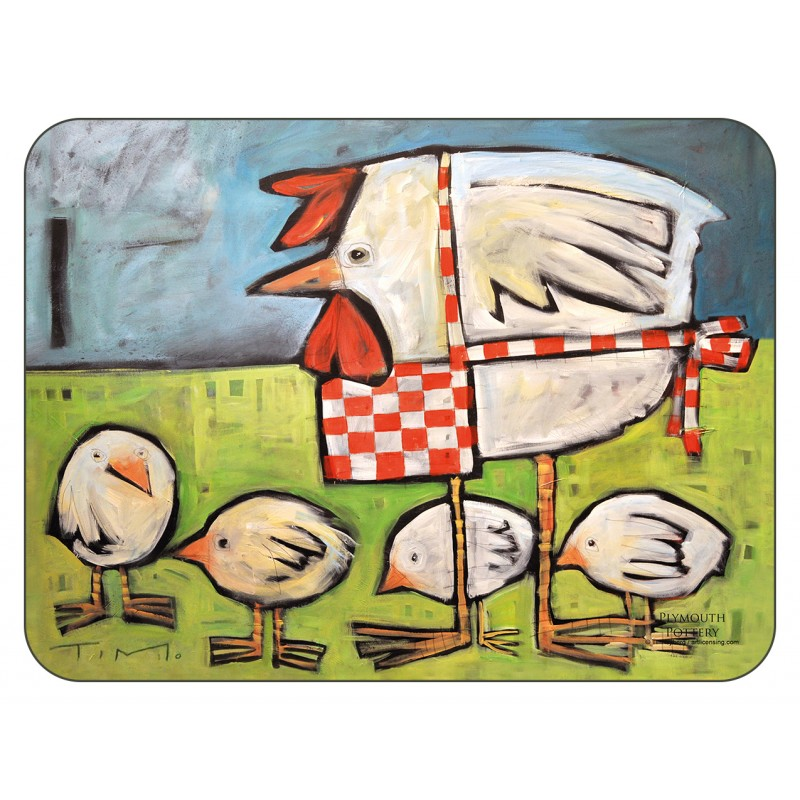 Mother Hen cork backed tablemats