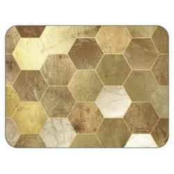 Gold hexagonal blocks Golden Repeat tablemats design