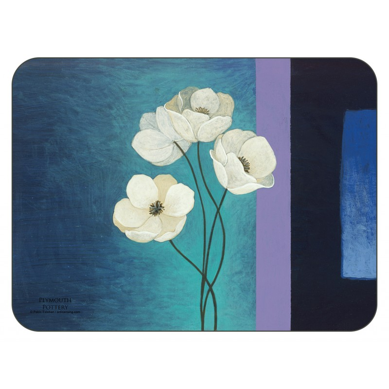 Plymouth Pottery Timeless white flowers tablemats