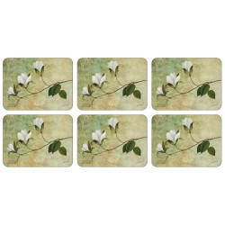 Floral corkbacked tablemats Ivory Blossom design by Plymouth Pottery