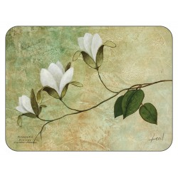 Plymouth Pottery floral corkbacked tablemats Ivory Blossom design