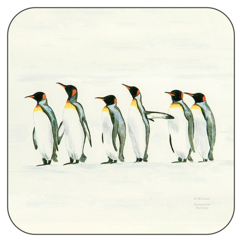 Penguin Parade drinks coasters by Plymouth Pottery
