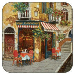 Plymouth Pottery Cafe Scene drinks coasters