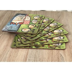 Mother Hen cork backed tablemats fan display