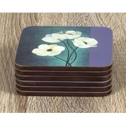 Neatly stacked Timeless drinks coasters by Plymouth Pottery