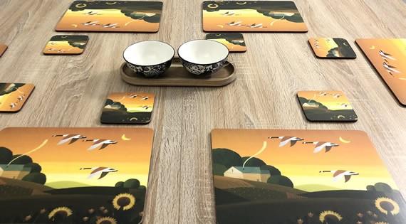 Summer Gold corkbacked tablemats
